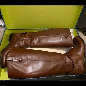 Tory Burch derby riding boot